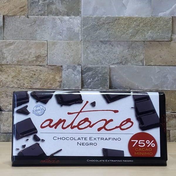 Chocolate extrafino negro 75% Antoxo